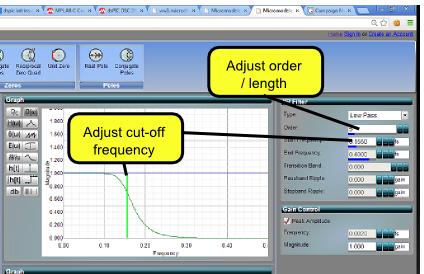 Micromodeler DSP - Infinite Impulse Response Filter Design